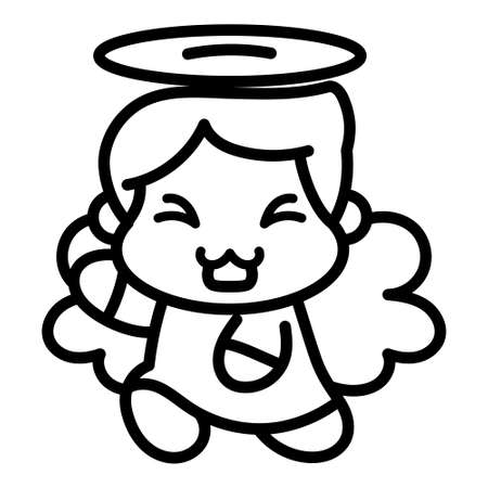 Isolated angel icon. Nativity characters icon - Vector