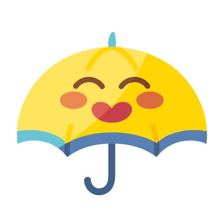 Isolated happy umbrella cartoon - Vector illustration design Ilustracja