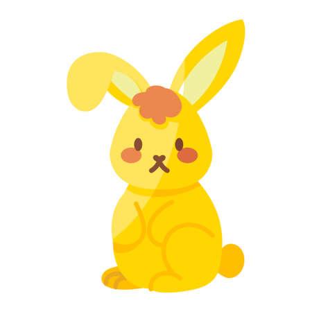Isolated cute bunny icon. Animal icon - Vector