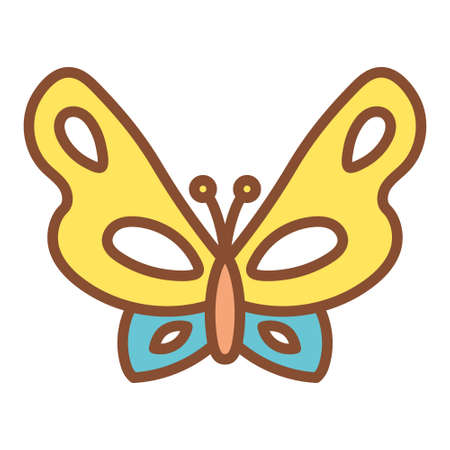 Isolated butterfly icon. Insect icon - Vector illustration Vectores