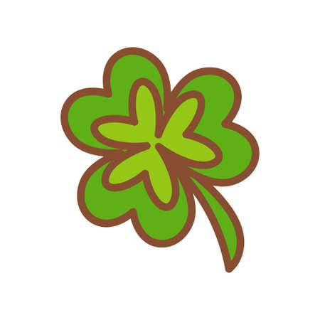 Isolated lucky clover icon - Vector illustration design