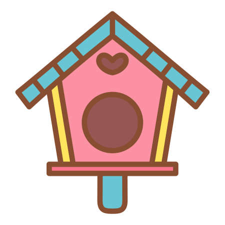 Isolated house for birds icon - vector illustration