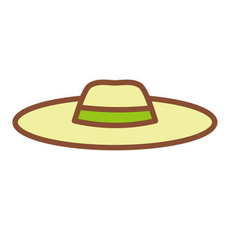 Isolated hat icon. Summer clothes - Vector illustration