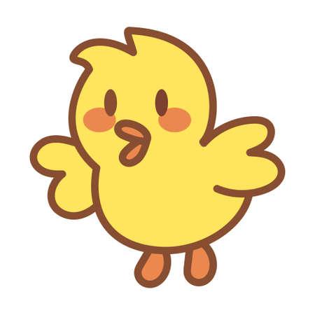 Isolated chicken icon. Farm animal - Vector illustration