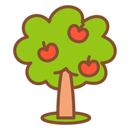 Isolated apple tree icon - Vector illustration design
