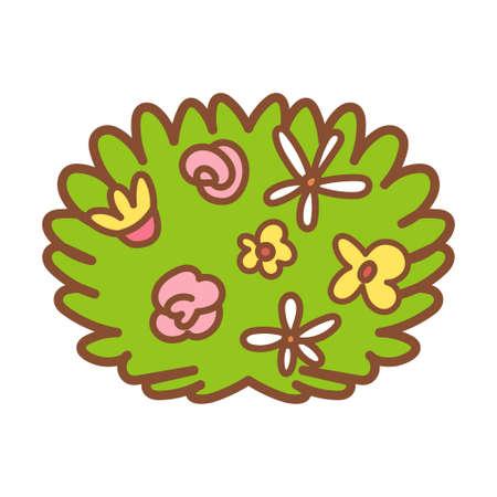 Isolated flowering bush icon - Vector illustration design