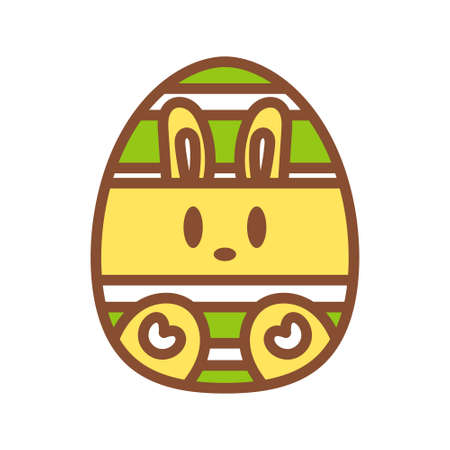 Isolated decorated easter egg icon - Vector illustration