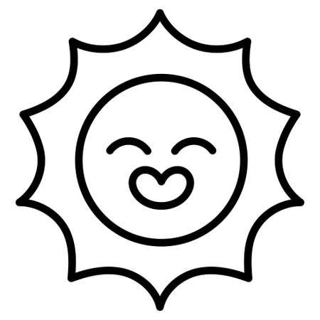 Isolated sun icon. Summer icon - Vector illustration