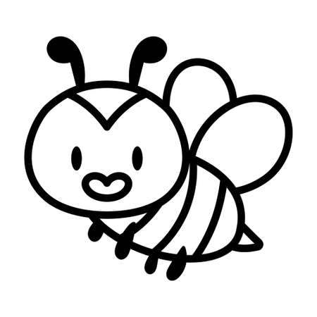 Isolated bee cartoon icon. Insect icon - Vector illustration