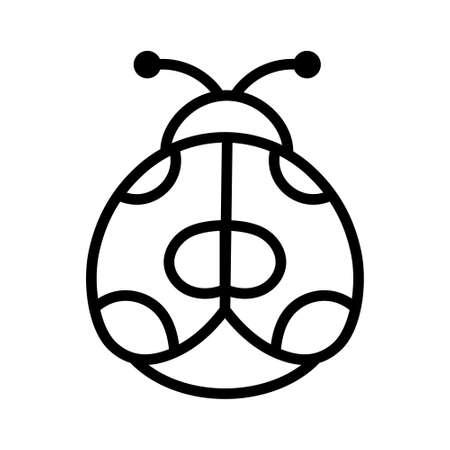 Isolated ladybug icon. Insect icon - Vector illustration
