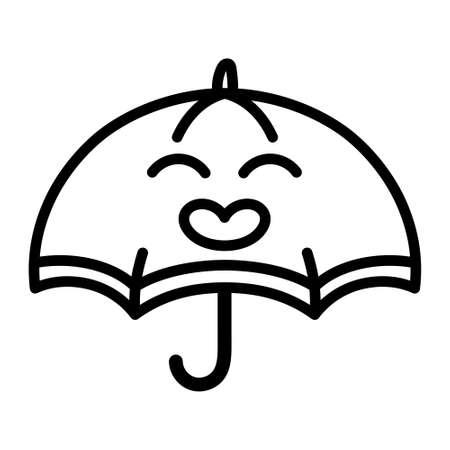 Isolated happy umbrella cartoon - Vector illustration design Vectores