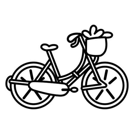 Isolated woman bike icon - Vector illustration design