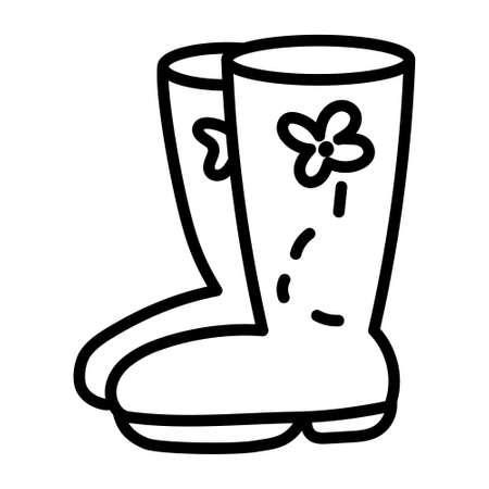 Isolated rain boots icon - Vector illustration design