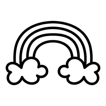 Isolated rainbow with clouds - Vector illustration design Vectores