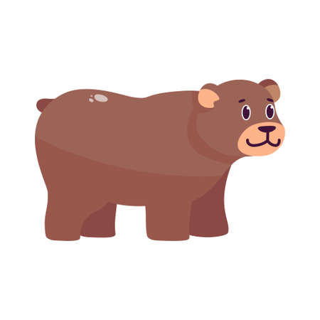 Isolated cartoon of a bear - Vector illustration