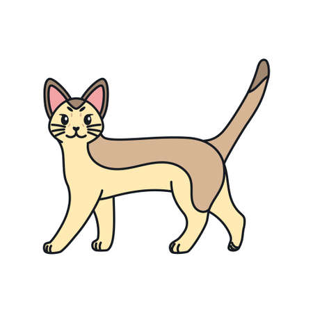 Isolated cartoon of a cat - Vector illustratrion