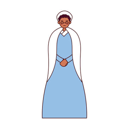 Isolated african american grandmother - Vector illustration design