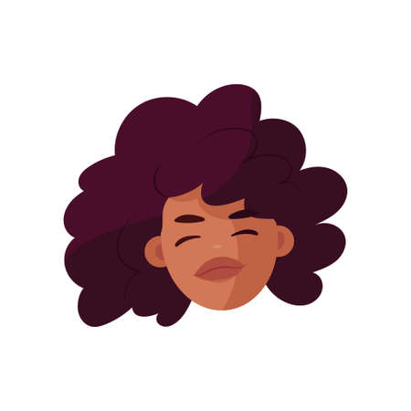 Isolated African american woman face - Vector illustration