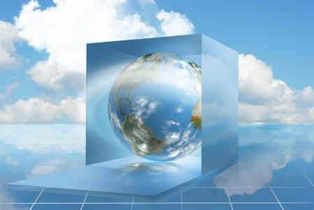 클라우드 컴퓨팅 기술로 만든 드롭 박스를 한 눈에 볼 수 있습니다.