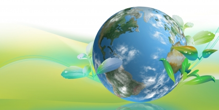 cleantech: clean tech world for Business Card and graphic campaign