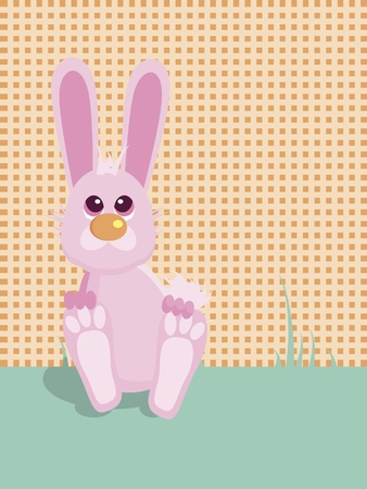 Easter bunny with modern background Vector