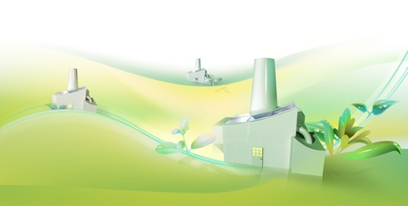 Factories working as green tech clusters photo