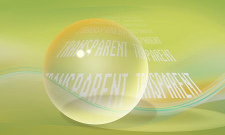 ball on a background with the word transparent Stock Photo