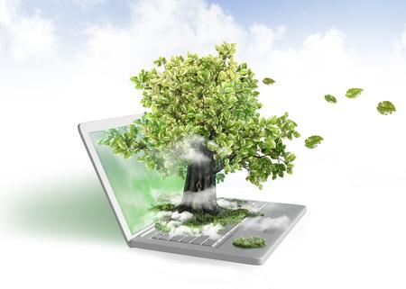 노트북에서 그린 에너지