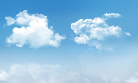 Blue Skye with Cumulus Clouds Stock Photo