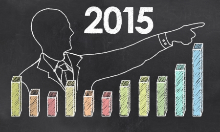 Growth in 2015 with Creative Businessman photo