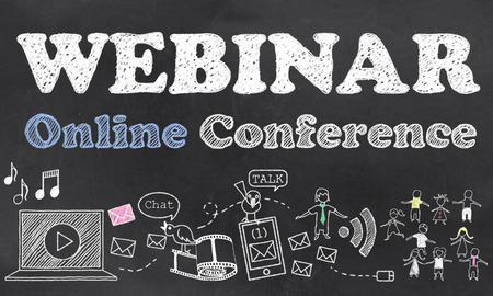 Webinar Online Conference with Chalk on Blackboard
