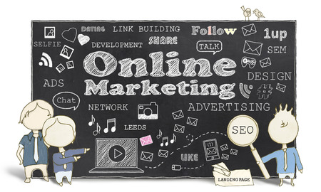 Online Marketing With Business Men photo