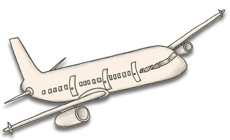 Hand Drawn Paper Plane Stock Photo