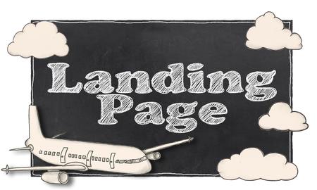 Suchmaschinen-Marketing auf Blackboard Standard-Bild - 80538568