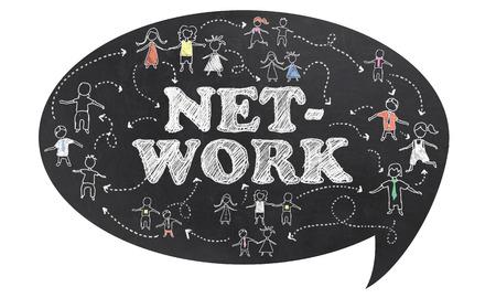 Netzwerk auf Tafel mit Beschneidungspfad und Weißer Hintergrund Standard-Bild - 27573251