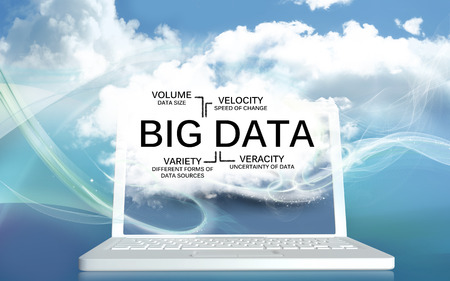 Big Data with Volume, Velocity, Variety and Veracity  photo
