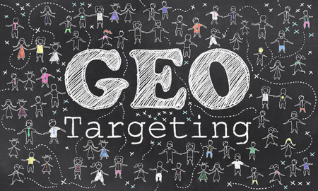 Geo Targeting on Blackboard with Small Humans in Chalk
