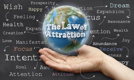 Que sostiene el mundo con La Ley de Atracción Foto de archivo - 27883132