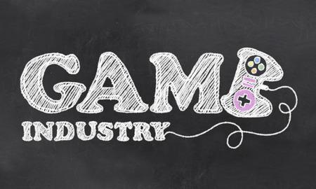 Das Game Industry mit Kreide auf Tafel Standard-Bild - 27910864