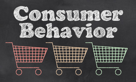 Consumer Behavior with Carts In Red, Orange and Green