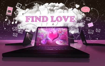 Finding Love with Online Internet Dating on Digital Devices photo