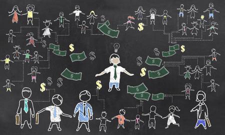 Crowd Funding Illustration