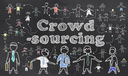 sourcing: Crowd Sourcing Illustration