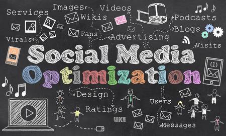 Social Media Optimization Standard-Bild - 55364420
