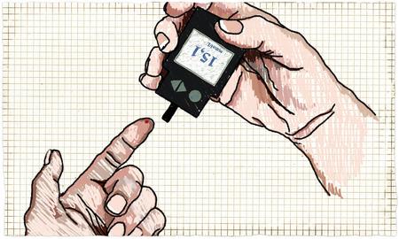 Healthcare Illustration about Diabetes Glucose Test