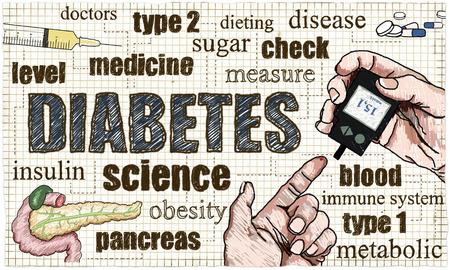 Gesundheitswesen Illustration über Diabetes Standard-Bild - 80842981