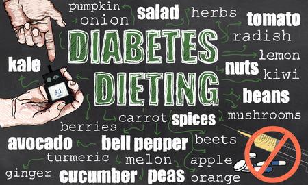 Diabetes-Diät reduziert Medikamente und senkt Blutzuckerspiegel Standard-Bild - 80842982