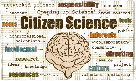 Citizen Science is including nonprofessionals and Opening up Science Stock Photo