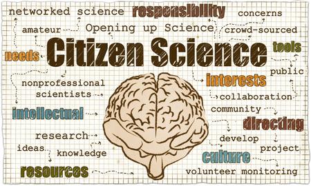 Citizen Science ist auch Nonprofessionals und Eröffnung der Wissenschaft Standard-Bild - 81602356