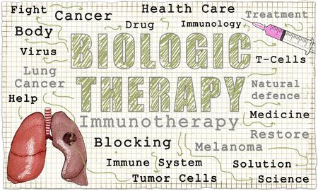 Worte der biologischen Therapie auf Papier im klassischen alten Stil Standard-Bild - 84220080